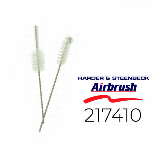 Harder & Steenbeck 217410 Airbrush Reinigungsbürsten-Set, 2 Bürsten