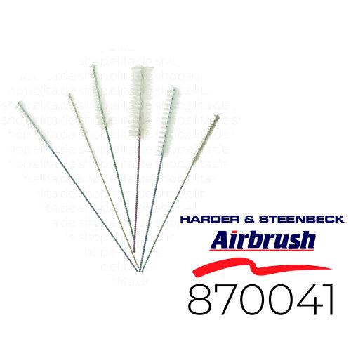 Harder & Steenbeck 870041 Airbrush Reinigungsbürsten-Set, 6 Stück
