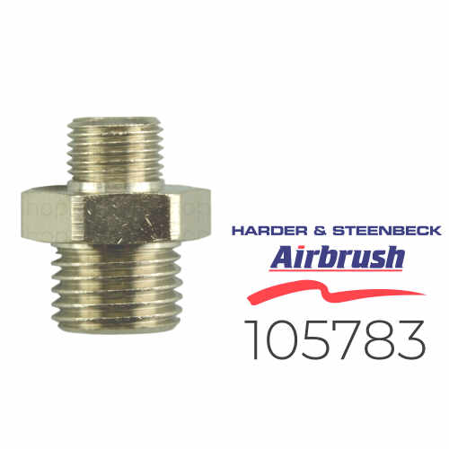 """Harder & Steenbeck 105783 Doppelnippel G 1/8"""" AG - G 1/4"""" AG"""