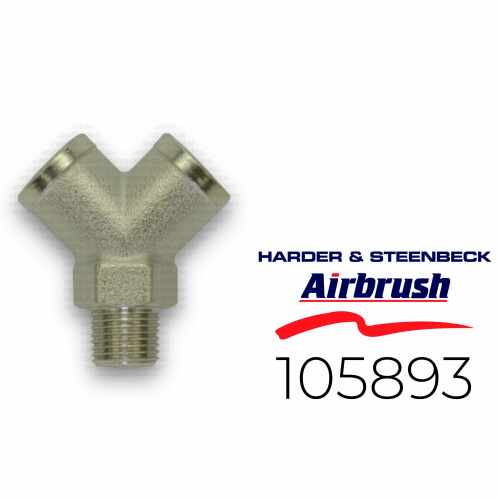 "Harder & Steenbeck 105893 Verteiler 2-Fach G 1/8"" AG"
