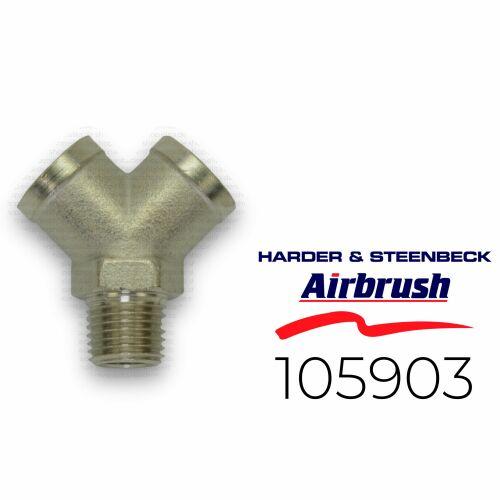 "Harder & Steenbeck 105903 Verteiler 2-Fach G 1/4"" AG"