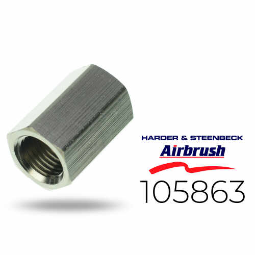 """Harder & Steenbeck 105863 Doppelnippel 2X G 1/4"""" Innengewinde"""