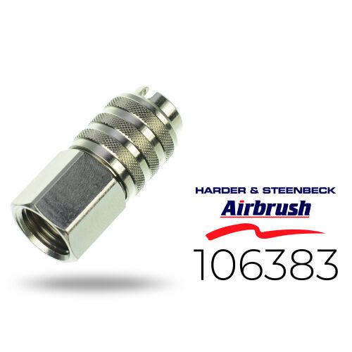 """Harder & Steenbeck 106383 Schnellkupplung NW 5,0 mm mit G 1/4"""" IG"""