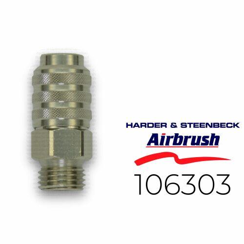 """Harder & Steenbeck 106393 Schnellkupplung NW 5,0 mm mit G 1/4"""" AG"""