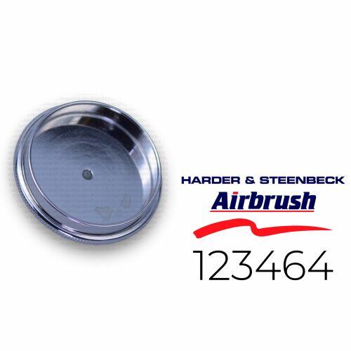 Harder & Steenbeck 123464 Deckel für Fließ- und Saugbecher 5 ml, chrom