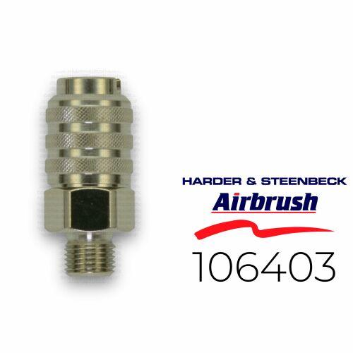 """Harder & Steenbeck 106403 Schnellkupplung NW 5,0 mm mit G 1/8"""" AG"""