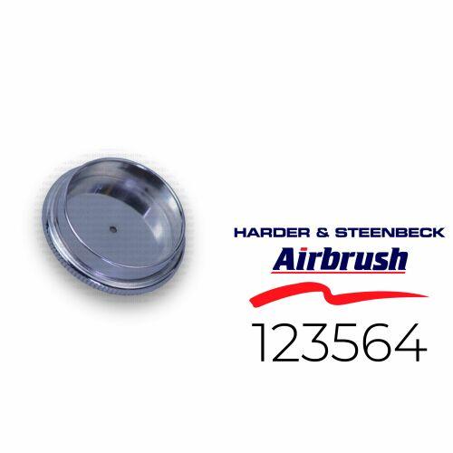 Harder & Steenbeck 123564 Deckel für Fließbecher 2 ml, chrom