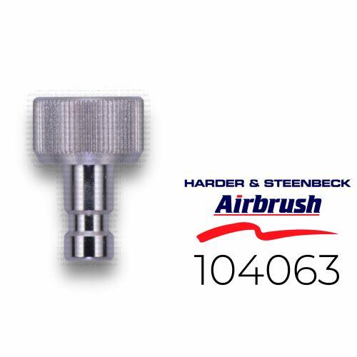 "Harder & Steenbeck 104063 Stecknippel NW 2,7 mm mit G 1/8"" IG"