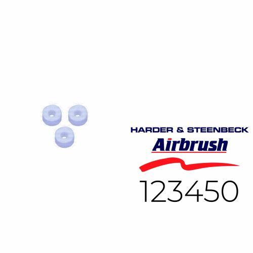 Harder & Steenbeck 123450 Dichtung für Nadel aus PTFE, 3 Stück