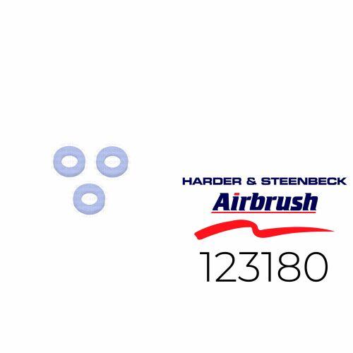 Harder & Steenbeck 123180 Dichtung für Düse aus PTFE, 3 Stück