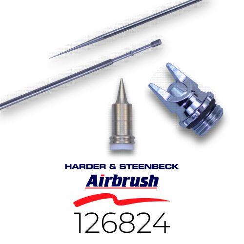 Harder & Steenbeck 126824 Düsensatz 0,15 mm CRplus fine line, chrom