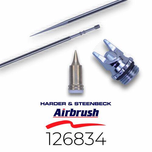 Harder & Steenbeck 126834 Düsensatz 0,2 mm CRplus fine line, chrom